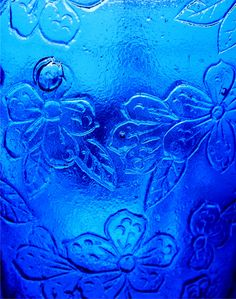 Blue Pressed Glass by Maureclaire