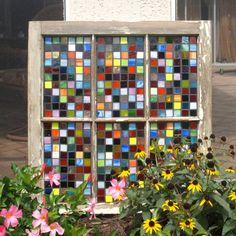 Stained Glass Mosaic Repurposed Window Pieces of von ARTfulSalvage