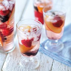As summer draws to a close, kick off your long Labor Day weekend with this refreshing sangria. Using rosé wine and a mixture of berries and stone fruits instead of the more traditional red wine and...