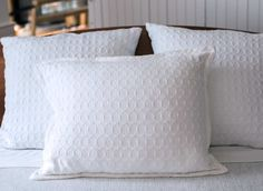 Brahms Mount crafts premium cotton, linen and wool blankets, throws and towels on antique shuttle looms in Maine, USA Pillow Shams, Bed Pillows, Cotton Pillow, Wool Blanket, American Made, Starry Nights, Antiques, Crafts, Pillowcases