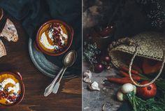 """""""Back to the Roots""""… e Un Dorato Vellutato di Verdure Con Crema di Anacardi e Feta, Melograno e Semi di Nigella"""