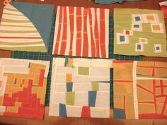Putting the improv / free form quilt blocks together   Sewn Up by TeresaDownUnder