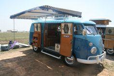 Love Bus (#1203) - 1963 Two Tone Blue Split Bus Camper