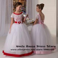 Vestidos de comunion para ninas First Communion Dresses For Girls Ball Gown Kids Evening Downs Flower Girl Dresses For Weddings
