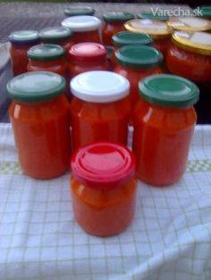 Papriková nátierka Hot Sauce Bottles, Preserves, Food Art, Salsa, Smoothie, Food And Drink, Pork, Pudding, Homemade