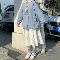 Korean Girl Fashion, Korean Street Fashion, Ulzzang Fashion, Muslim Fashion, Cute Fashion, Modest Fashion, Ulzzang Style, Indie Outfits, Cute Casual Outfits
