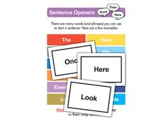 Looking for a fun way to teach sentence structure? Check out these flash cards on the Fellowes Idea Center! Diy Projects For Kids, Crafts For Kids, Project Ideas, Sentence Structure, Educational Crafts, Printable Letters, Student Gifts, School Classroom, Literacy Centers