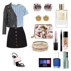 """""""Untitled #320"""" by geekgirl1010 ❤ liked on Polyvore featuring T By Alexander Wang, French Connection, Miss Selfridge, Gucci, Giuseppe Zanotti, Miriam Haskell, MAC Cosmetics, Essie, Givenchy and NYX"""