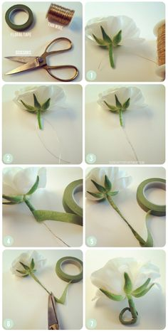 DIY: wrapping fresh hair flowers