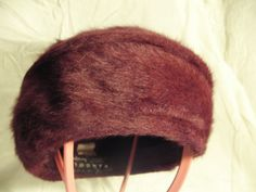1960s Wine Coloured Kangol Fur Pill Box by Petticoatjanevintage, £10.00