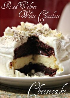 Red Velvet White Chocolate Cheesecake for 2!