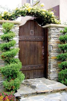 Rustic Landscape and Yard with Stacked stone wall & Gate | Zillow Digs  | Zillow