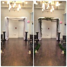 The addition of Italian Ruskus garlands created the magic setting for a wedding