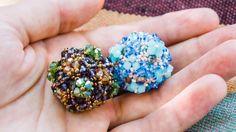 beaded beads (in russo 3/3) di Cojocaru Olga bicono da 4 mm e facettes da 2 mm