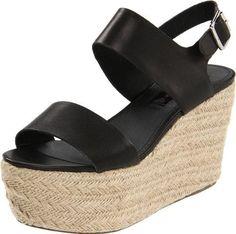 Steven by Steve Madden Women's Berklee Platform Sandal,Black Leather,10 M US, Size: 10 B(M) US