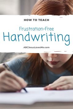 How to Teach Handwriting without Frustration  #ABCJesusLovesMe #Handwriting #PreschoolHandwriting #Preschool