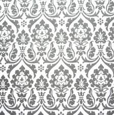 Grey Damask on White Cotton French Terry Fabric Swimsuit Fabric, Roman Blinds, New Room, French Terry, Knitted Fabric, White Cotton, Damask, Girly, Knitting