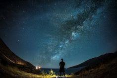 Milky way Selfie by Dimitris Drougoutis on Milky Way, Night Skies, Northern Lights, Sky, Selfie, Nature, Photography, Travel, Heaven