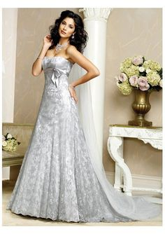 Fresh Blue Wedding Dress