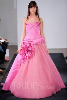 New wedding dresses vera wang pink Ideas Pink Wedding Dresses, Pink Gowns, Wedding Dress Accessories, Wedding Dress Styles, Pink Dress, Wedding Gowns, Winter Dress Outfits, Vera Wang Dress, Bridal Fashion Week