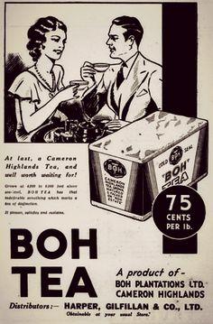 Boh Tea Newsprint Ad - The Straits Times 7 April 1936