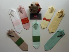 Origami Bookmark/ Marca Página de Origami/ Tsuru/ Símbolo da paz, prosperidade. http://www.meirehirata.com/