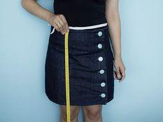 Tutorial DIY: Uszyj spódnicę ołówkową z tkaniny dżersejowej przez DaWanda.com