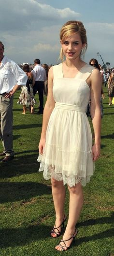 Emma Watson as Azura wearing a sheer dress with a visible slip. #vpl