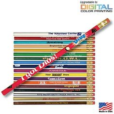 A Good Back to School handout Promotional Pencils! only $0.18/each! Great for K-12 Grades. Promotional Round Pioneer Pencil | Customized Pencils | Promotional Pencils