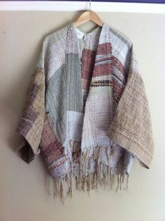 handwoven kimono -by  jess feury It  is time to make some cloth for fall. Handmade fabric  sewing=always weaving their way together. Diane