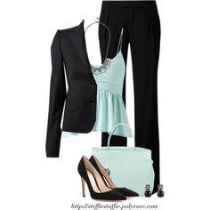 Mint Green & Black
