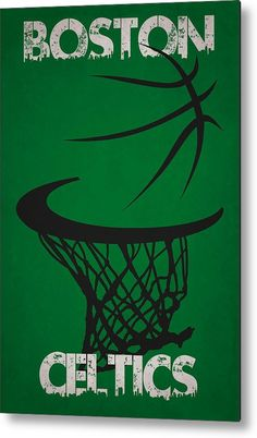 Celtics Metal Print featuring the photograph Boston Celtics Hoop by Joe Hamilton