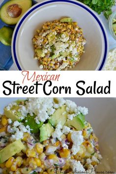 Easy and creamy Mexican Street Corn Salad is the perfect side dish or salad topper. Easy and creamy Mexican Street Corn Salad is the perfect side dish or salad topper. Corn Recipes, Mexican Food Recipes, Hamburger Side Dishes, Side Dishes With Hamburgers, Grilling Recipes, Cooking Recipes, Kitchen Recipes, Cooking Ideas, Food Ideas
