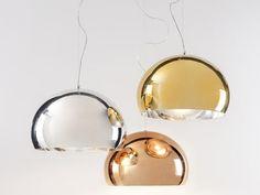 Pendant lamp / contemporary / copper / PMMA - FLY
