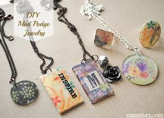 DIY Mod Podge jewelry