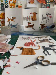 Paper Collage Art, Paper Art, Paper Crafts, Cut Paper, Collage Illustration, Painted Paper, Art Plastique, Teaching Art, Toddler Crafts