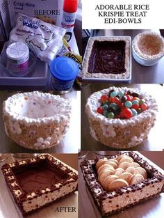 Edible Bowls (made from Rice Krispie treats)