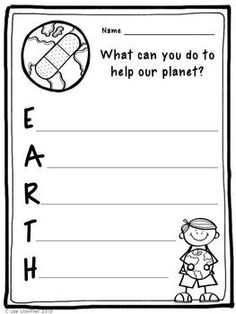 FREEBIE! I hope you enjoy this Earth Day acrostic poem activity! I have included two Earth Day acrostic poem pages (boy and girl). These would be great to use after learning about ways to help our planet.