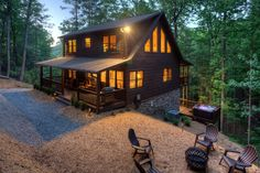 This cabin rental starts at $150/night! Cheaper than splitting everyone up into hotel rooms, that's for sure.