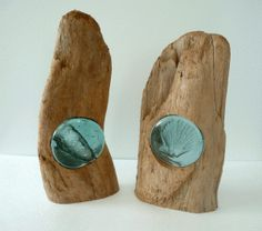 Driftwood and glass from Tideline Gallery. Gorgeous!