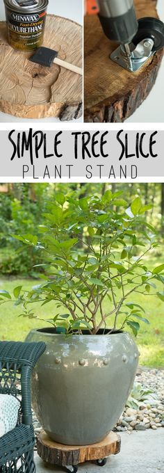 30 Impressive DIY Plant Stands You Can Build at Home Outdoor Projects, Garden Projects, Diy Projects, Plant Projects, Outdoor Ideas, Outdoor Plants, Outdoor Gardens, Plants Indoor, Container Gardening