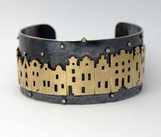 Sieraad in perspectief op de gouden eeuw gebaseerde sieraden Goudsmid Aletta Teunen