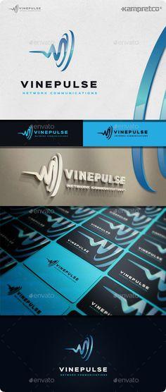Vine Pulse Logo Design Template Vector #logotype Download it here: http://graphicriver.net/item/vine-pulse-logo/11506894?s_rank=812?ref=nexion