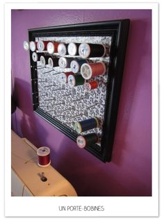 Check out DIY Sewing Thread Storage Ideas using spice racks and drawers for room organization. Thread Storage, Thread Organization, Room Organization, Sewing Hacks, Sewing Crafts, Sewing Projects, Diy Crafts, Sewing Diy, Sewing Table