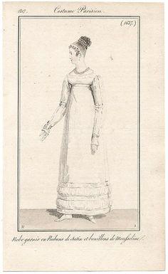 Neat white gown 1817 Costume parisien