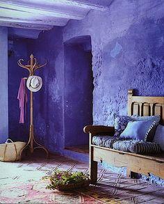 Purple house walls