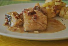 Cazuela de bacalao o marmitako, la receta paso a paso la puedes encontrar en la web.