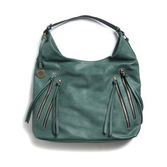 Miah Zipper Detail Hobo Bag