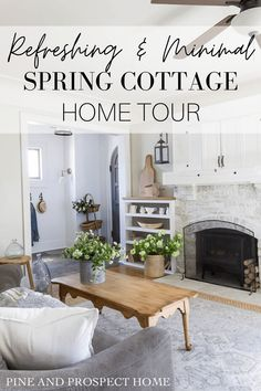 Today I'm sharing my refreshing and minimal spring cottage home tour!