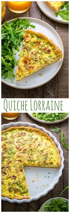 The BEST Quiche Lorraine. Tastes just like the one I ate in Paris!